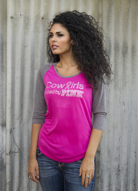 Cowgirls United by Pink Baseball Tee