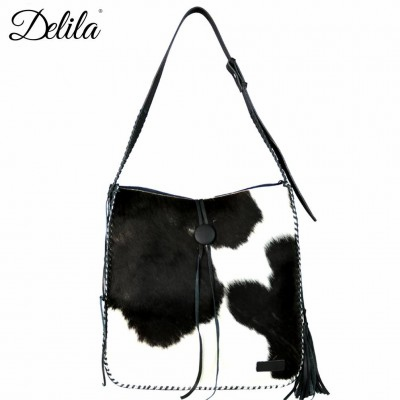 Delila 100% Genuine Leather Hair-On Hide Collection Hobo