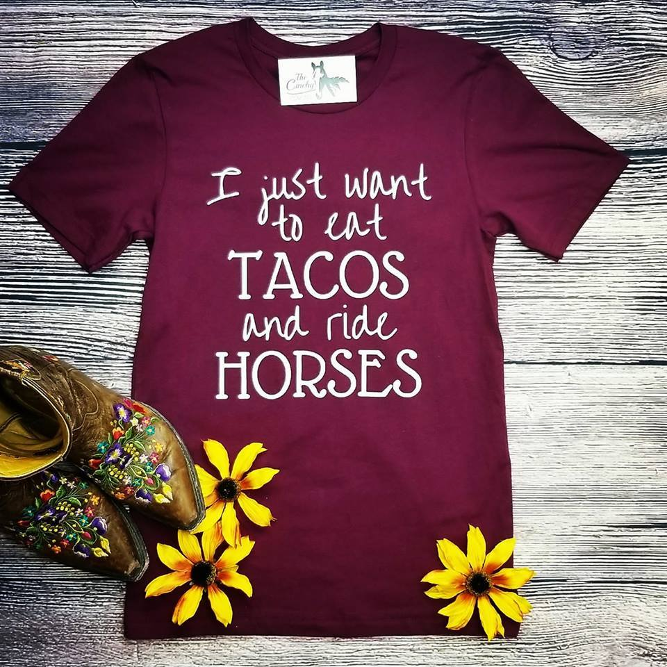 Eat Tacos & Ride Horses Graphic Tee S-2XL