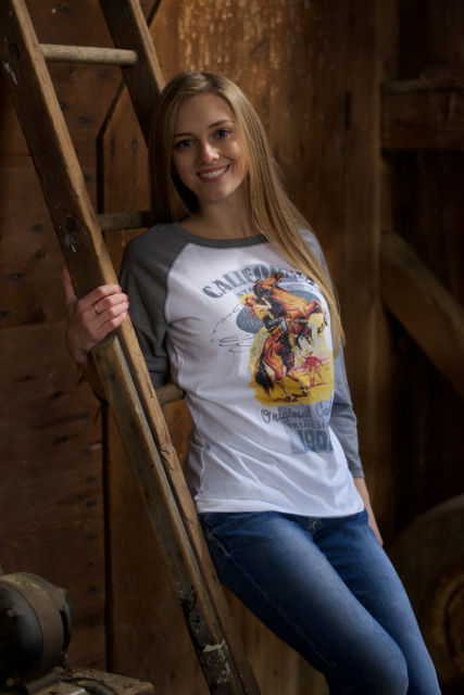 Retro California Cowgirl Baseball Tee  (S-4XL)