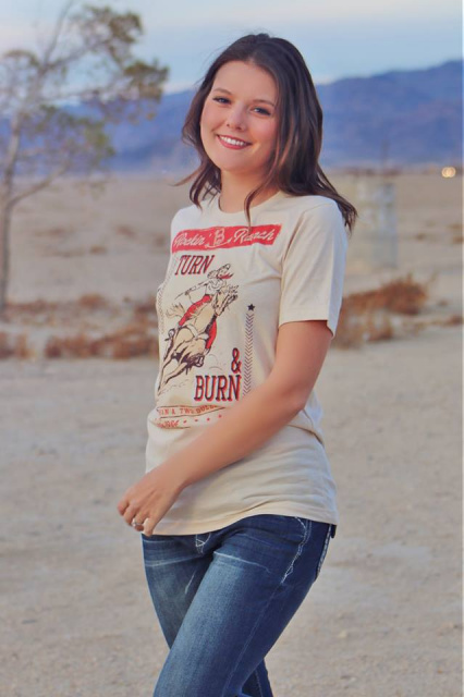 Rockin' B Ranch Turn N Burn Tee