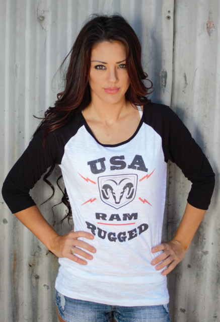 USA RAM Rugged Tee JR Baseball Black Sleeve