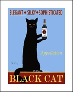 APPELLATION BLACK CAT - Limited Edition Print