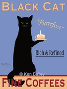 Black Cat Coffees - Premium Canvas Limited Edition Print