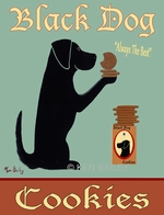 Black Dog Cookies - Premium Canvas Limited Edition Print