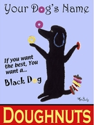 BLACK DOG DOUGHNUTS -  Custom Canvas Premium Art