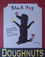 Black Dog Doughnuts - Original Painting