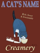 BLUE CAT CREAMERY - Custom Canvas Premium Art