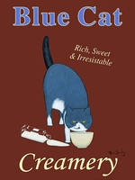 Blue Cat Creamery - Premium Canvas Limited Edition Print