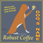 BOXER ROBUST COFFEE - Custom Canvas Premium Art