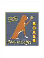 BOXER ROBUST COFFEE - Limited Edition Print