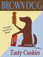 Brown Dog Cookies - Premium Canvas Limited Edition Print