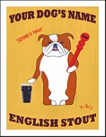 Bulldog English Stout - Custom Print