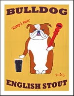 Bulldog English Stout - Limited Edition Art Print