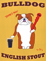 Bulldog English Stout - Premium Canvas Limited Edition Print