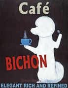 Cafe Bichon - Premium Canvas Limited Edition Print