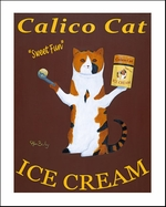 Calico Cat Ice Cream - Limited Edition Print