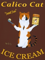 Calico Cat Ice Cream - Premium Canvas Limited Edition Print