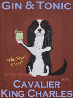 CAVALIER GIN & TONIC - Original Painting and One-of-a-kind Special