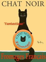 Chat Noir II - Premium Canvas Limited Edition Print
