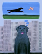City Dog With Country Dreams -  Premium Canvas Limited Edition Print