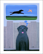 City Dog With Country Dreams Limited Edition Print & One-of-a-kind special