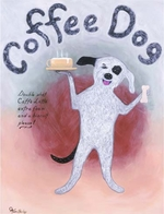 Coffee Dog -  Premium Canvas Limited Edition Print