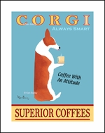 CORGI SUPERIOR COFFEES - Limited Edition Print