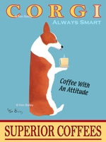 CORGI SUPERIOR COFFEES - Premium Canvas Limited Edition Print