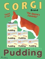 Corgi Pudding - Premium Canvas Limited Print