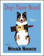 Custom Australian Shepherd Steak Sauce