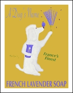 Custom POODLE LAVENDER SOAP - Fine Limited Edition Print