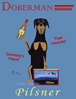 Doberman Pilsner - Premium Canvas Limited Edition Print