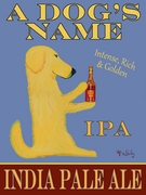 Golden Retriever India Pale Ale - Custom Canvas Premium Art