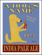 Golden Retriever India Pale Ale - Custom Print