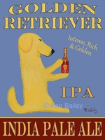 Golden Retriever India Pale Ale - Premium Canvas Limited Edition Print