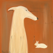 Greyhound and Rabbit - Premium Canvas Limited Edition Print