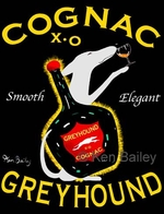 Greyhound Cognac - Premium Canvas Limited Edition Print