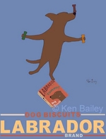 Labrador Brand - Chocolate Lab -  Premium Canvas Limited Edition Print