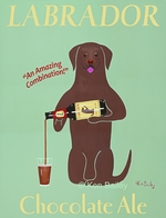 Labrador Chocolate Ale - Premium Canvas Limited Edition Print