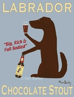 Labrador Chocolate Stout - Premium Canvas Limited Edition Print