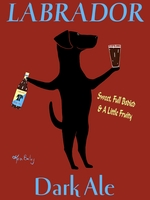 Labrador Dark Ale - Premium Canvas Limited Edition Print