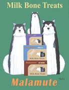 Malamute Milk Bones - Premium Canvas Limited Edition Print