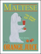 MALTESE ORANGE JUICE - Fine Limited Edition Print