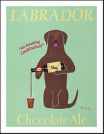 Labrador Chocolate Ale - limited edition print