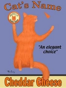 ORANGE CAT CHEDDAR CHEESE - Custom Canvas Premium Art