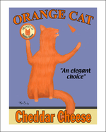 ORANGE CAT CHEDDAR CHEESE - One-of-a-kind Special