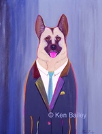 POLICE DOG - DETECTIVE - Original Painting