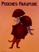 Pooches - Parapluie - Premium Canvas Limited Edition Print