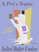 POODLE SALTED BUTTER COOKIES - Custom canvas premium art